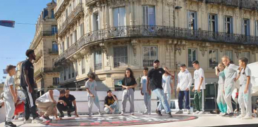 "Le centre-ville en mode ""culture urbaine"" à Montpellier"