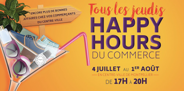 Happy Hours du commerce à Montpellier